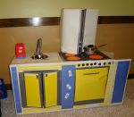 Cardboard Kitchen front view