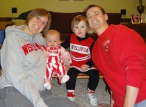 2012 Badger fans watching the Rose Bowl