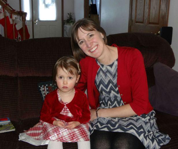 Christmas 2012 Mama O and big sister