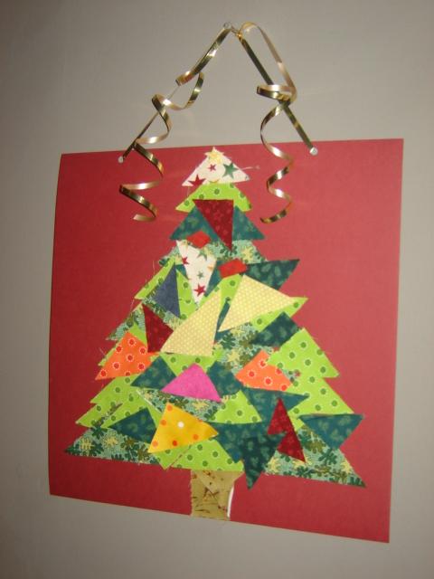 Scrap Fabric Tree picture