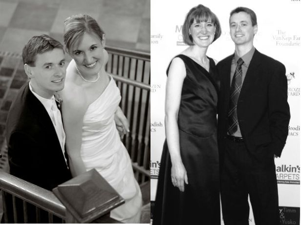 Our wedding day and 7 years later