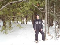 Daddy O on snowshoes