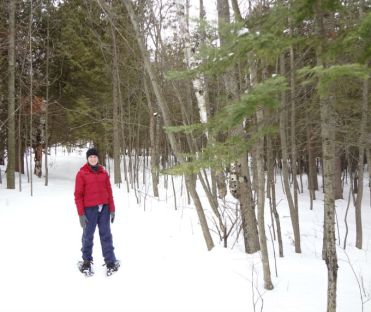 Mama O rocking the snowshoes
