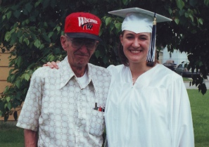 Me and my Grandpa at high school graduation