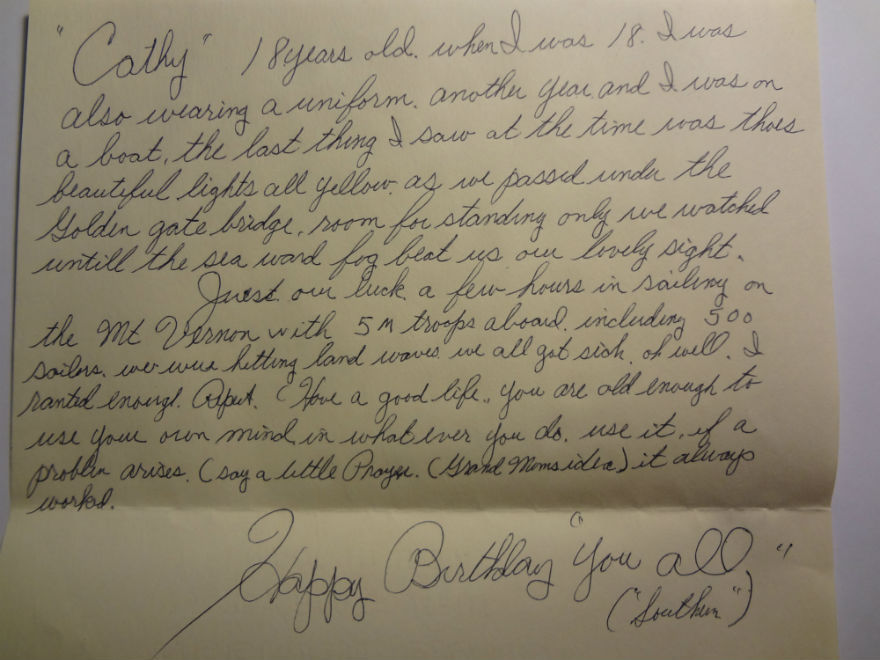 letter from my grandpa letter from grandpa on my 18th birthday