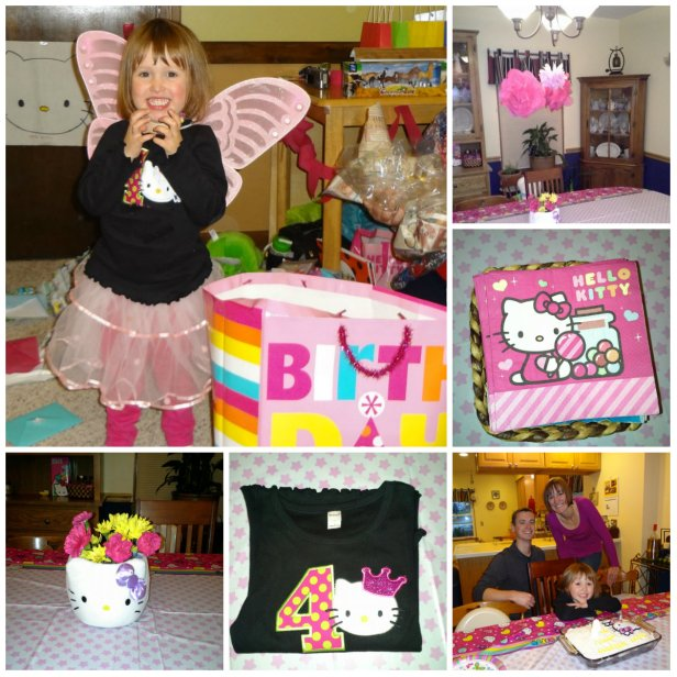 Hello Kitty Birthday Party for my big 4 year old girl