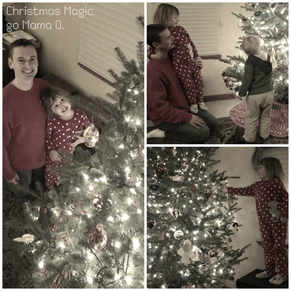 enjoying our Christmas tree as a family