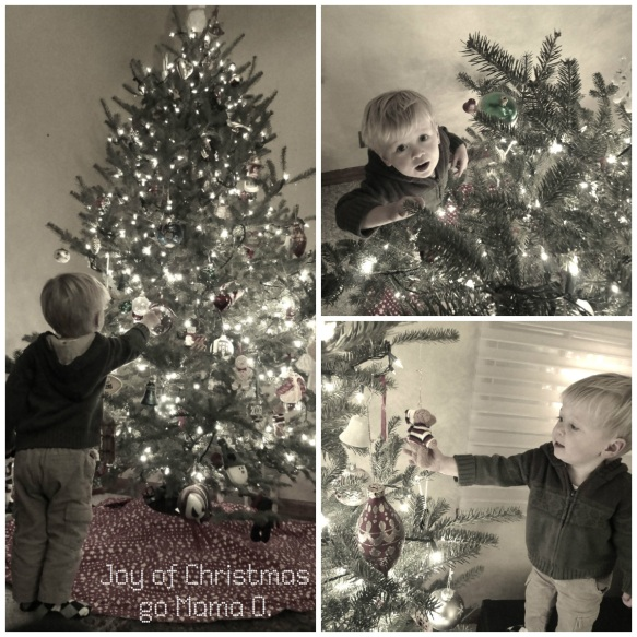 two year old and our Christmas tree