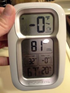 Image of despair: looking at my weather station during the polar