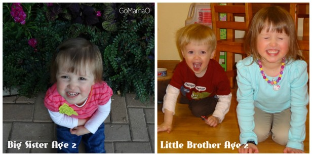 Big Sister and Little Brother Age 2