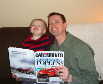 Reading Car & Driver Magazine together