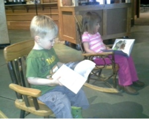 reading at the nature center