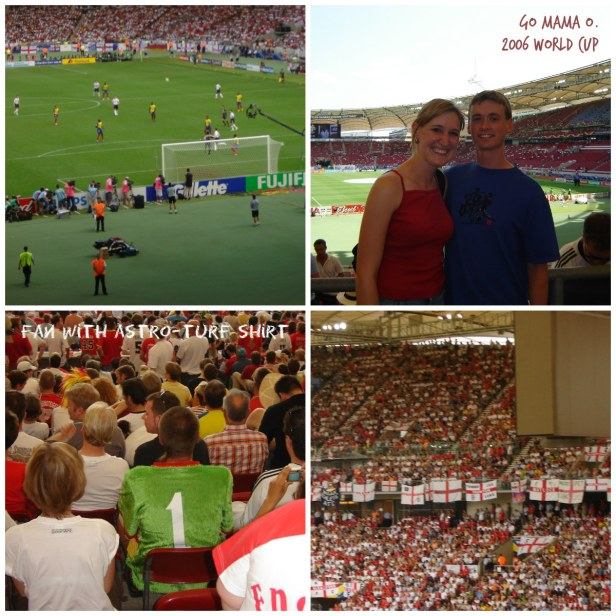 Mr. and Mrs. O. at the England - Ecuador Game in Stuttgart 2006 World Cup