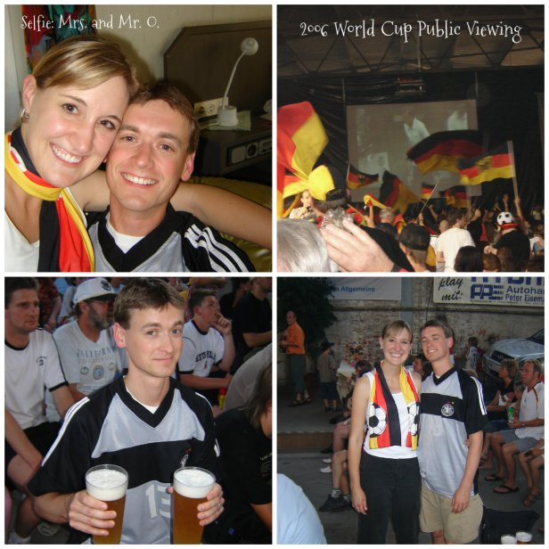 One of our favorite nights - watching Germany play at a public viewing in a outer-lying area of Stuttgart