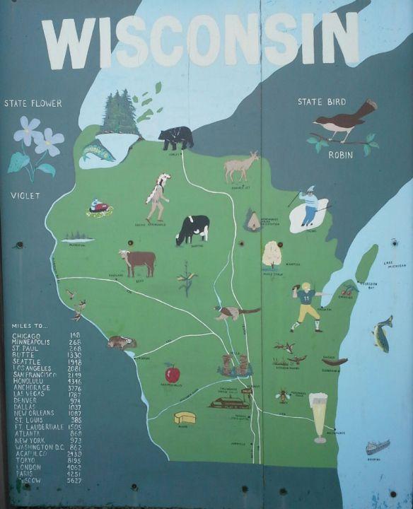 mural of Wisconsin