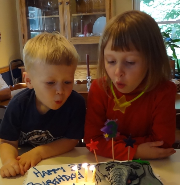 A little help blowing out the candles.