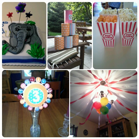 circus themed birthday