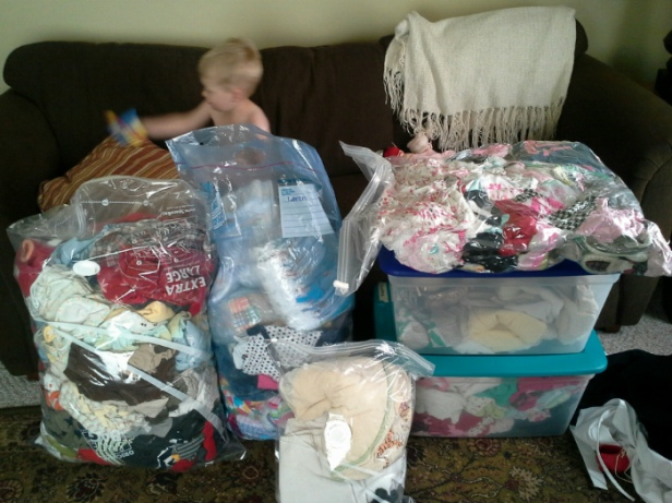 lots of baby clothes