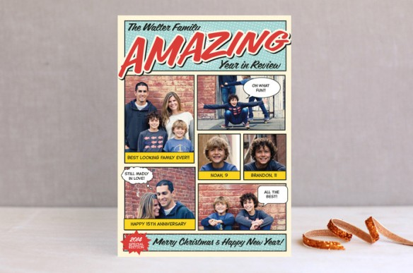 Minted Comic Book Holiday Card