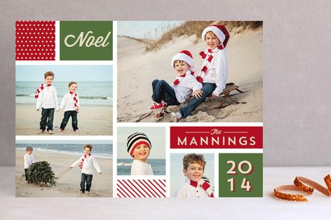 Minted Holiday Collage Photo Card