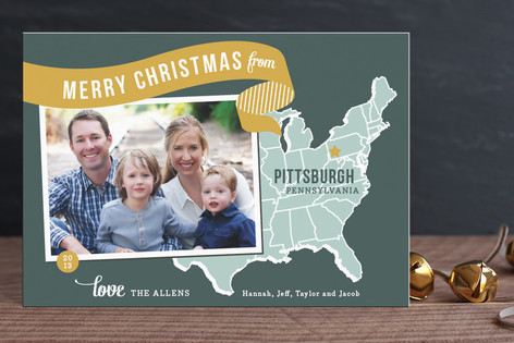 Minted Holiday Map Holiday Card