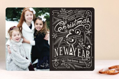 Minted Merry Little Chalkboard Card