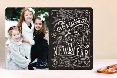 Minted Merry Little Chalkboard Card