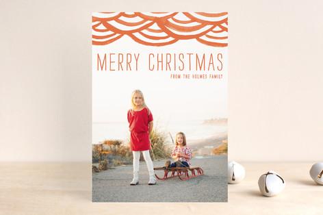 Minted Watercolor Bunting Holiday Card