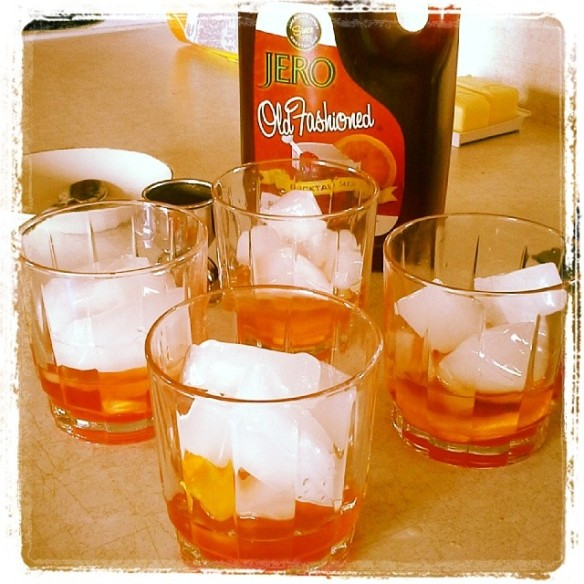 old fashioned mixed drink