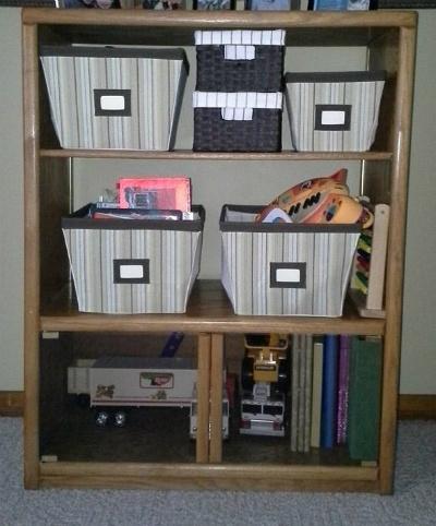 organized toy storage
