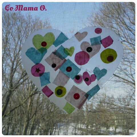 heart shaped sun-catcher craft