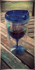 My version of a sippy cup! Cheers to growing up, down & all around!
