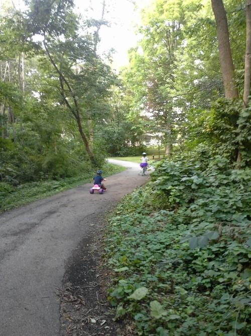 Kids on a bike ride