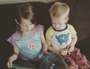 Pure sweetness: sharing a story in their PJ's. What a way to start off the day!