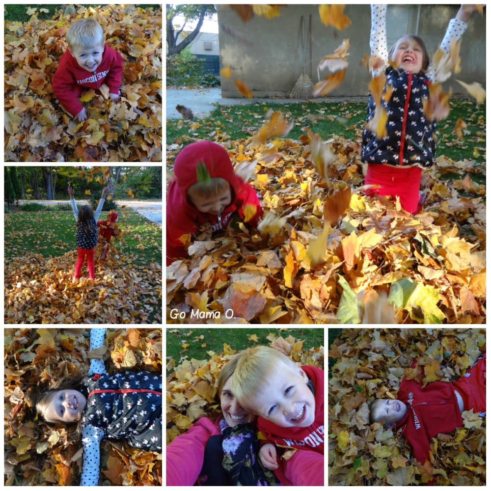 Go Mama O. Playing in the Leaves
