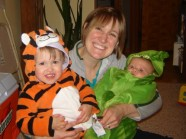 Mom with tiger and sweet pea 10.31.11