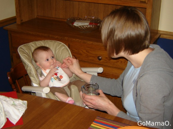 kitchen table 2010 with a high chair