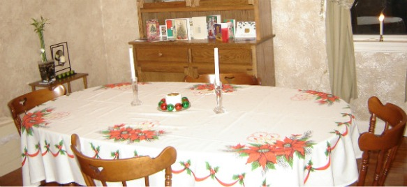 Kitchen table Christmas 2005