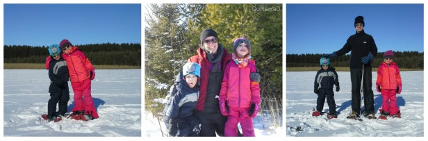 family snowshoe in Wisconsin GoMamaO