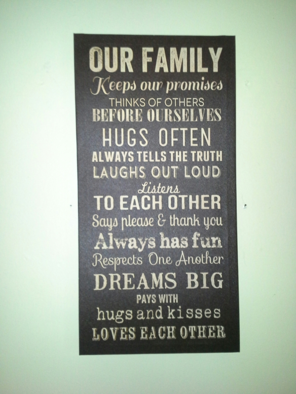 Sign in our kitchen - family rules
