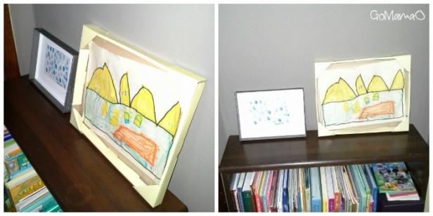easy artwork frame for kids