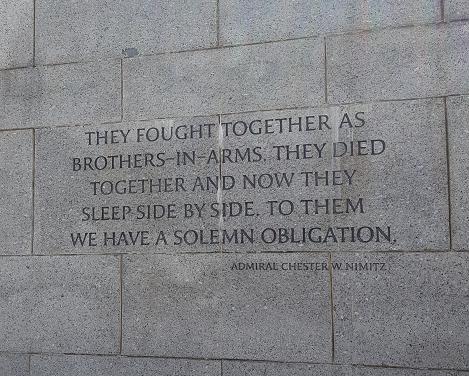 WWII Memorial Quote Nimitz