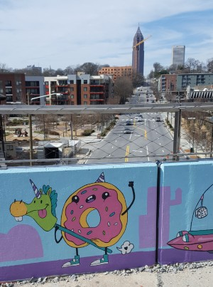 Atlanta mural along the beltline