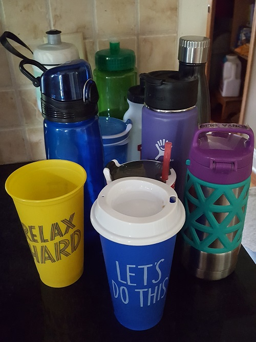 Water bottles everywhere Go Mama O.